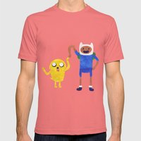 Finn And Jake! Mens Fitted Tee Pomegranate SMALL