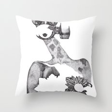 Anabelle (B&W) Throw Pillow