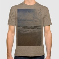 Waves Break Mens Fitted Tee Tri-Coffee SMALL