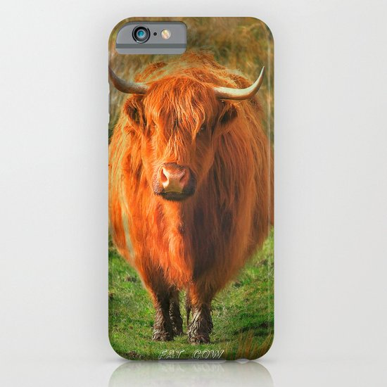 """""""Fat Cow"""" iPhone & iPod Case"""