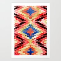 Painted Navajo Suns Art Print