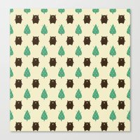 Bears and Trees Canvas Print