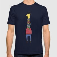 Scarf Lover Mens Fitted Tee Navy SMALL