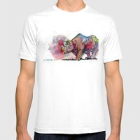 I'd Rather Be A Rhino Mens Fitted Tee White SMALL