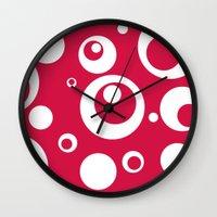 Circles Dots Bubbles :: … Wall Clock