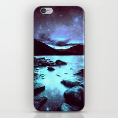 Magical Mountain Lake Violet Aqua iPhone & iPod Skin