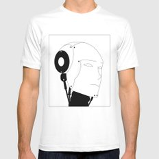 AI White SMALL Mens Fitted Tee