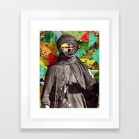 Color Face Framed Art Print