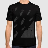 Living With Air Strikes … Mens Fitted Tee Black SMALL