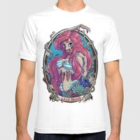 Zombie Little Mermaid Mens Fitted Tee White SMALL