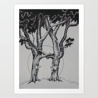 Tree Love Art Print