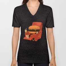 Lunch Break. Unisex V-Neck