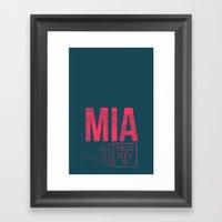 MIA II Framed Art Print