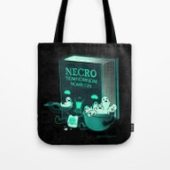 Tote Bag featuring Necronomnomnomicon by Anna-Maria Jung