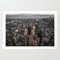 NYC- Golden Tops Art Print