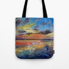 Key West Florida Sunset Tote Bag