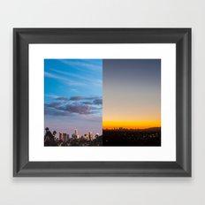 Sunset in Los Angeles Framed Art Print