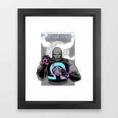 Die 4 Darkseid Framed Art Print