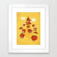 We were tomatoes! Framed Art Print