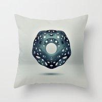 Cavus Icosahedron Throw Pillow