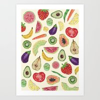 Froot and Veg Art Print
