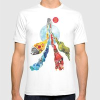 Luna Marina Mens Fitted Tee White SMALL