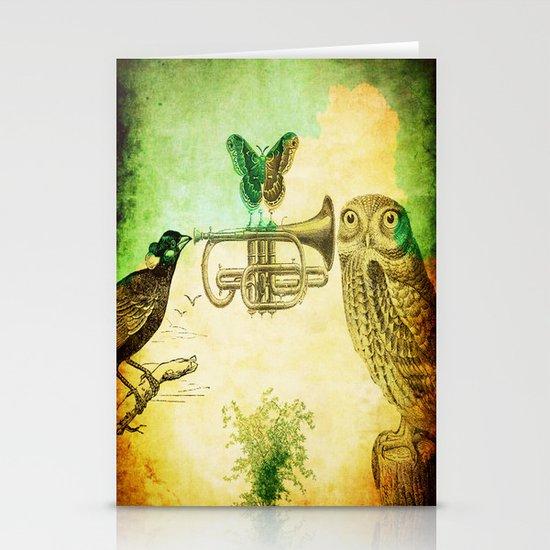 Music of birds Stationery Card