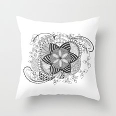 Turn black and white Throw Pillow
