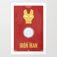 iron man Art Prints featuring Iron Man by Steal This Art