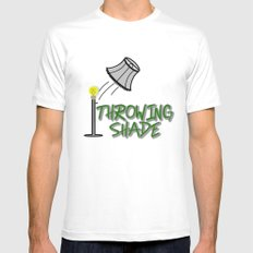 Throwing Shade Mens Fitted Tee White SMALL
