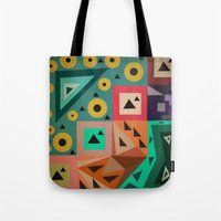 crazy triangles Tote Bag