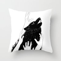 Wolves Of Paris Throw Pillow