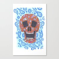 Paisley Skull Canvas Print