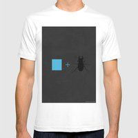 Blue Beetle Mens Fitted Tee White SMALL