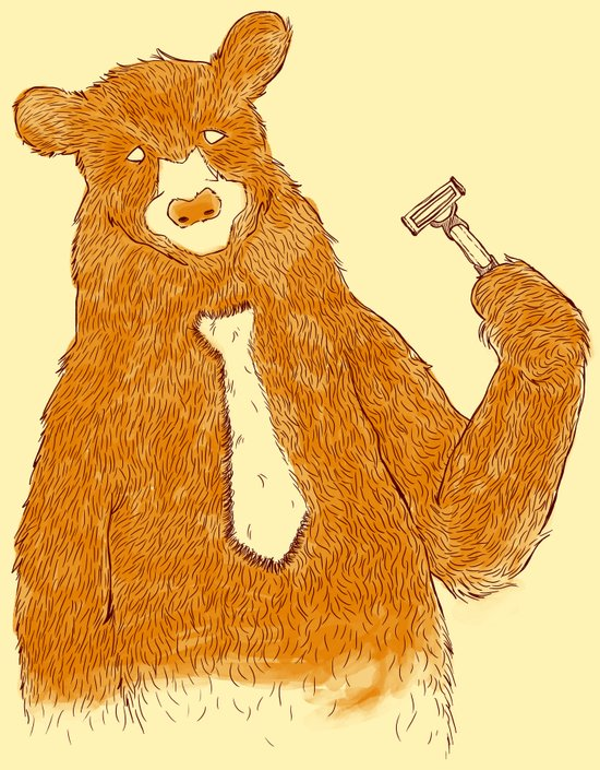 Office Bear Art Print