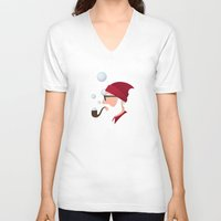 Soap Bubble Santa Unisex V-Neck