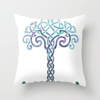 Woven Tree Of Life - Coo… Throw Pillow