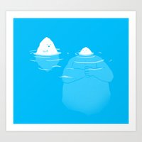 Art Print featuring The Tip Of The Iceberg by Skylar Hogan