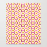 Colored Hexies Canvas Print