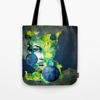 Evelin Green (Set) by carographic watercolor portrait Tote Bag