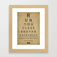 Run You Clever Boy - Doc… Framed Art Print