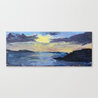 Canvas Print featuring Sunset at the Prom by Tara Bateman