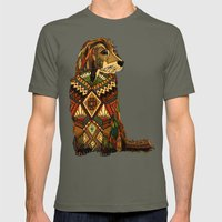 Golden Retriever ivory Mens Fitted Tee Lieutenant SMALL