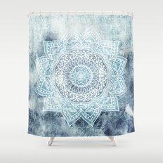 DEEP BLUE MANDALA Shower Curtain