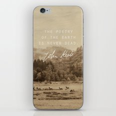 Keats: Poetry iPhone & iPod Skin