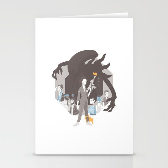 Alien Stationery Card