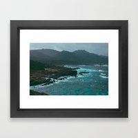 Big Sur Rocky Shore Framed Art Print