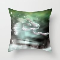 Snow Howls Throw Pillow