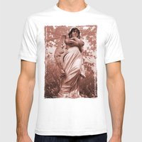 WallaAngelRust Mens Fitted Tee White SMALL