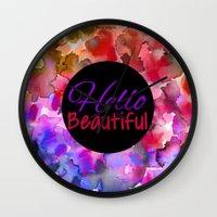 HELLO BEAUTIFUL Colorful… Wall Clock